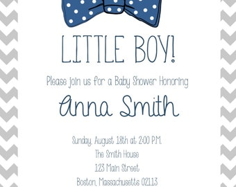 Baby Boy Shower Digital Invitation