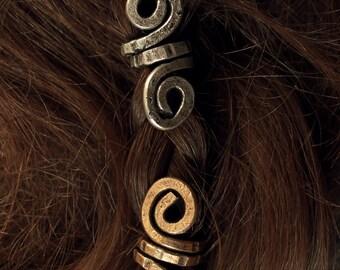 2 Custom Small Viking hair beads • Viking beads • Beard jewelry • Viking jewelry • Hair accessories • Dreadlock accessories • Nordic jewelry