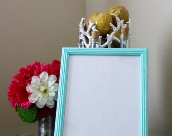 Mint 8x10 upcycled and distressed picture frame