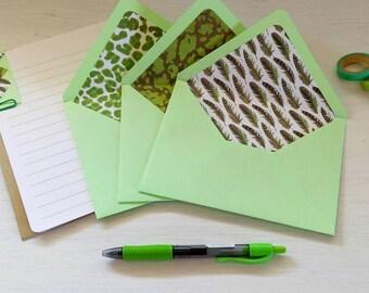 colorful letters kit - 3 envelopes + 6 paper sheets.