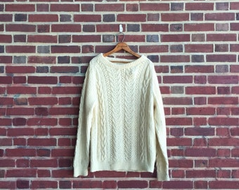 Vintage Women's Oversized Wool Sweater by Natural Clothing Co New Zealand