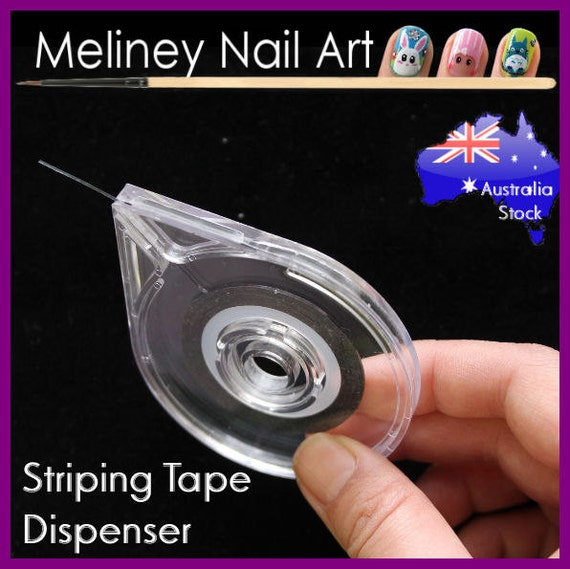 Striping Tape Dispenser Case Box Holder Nail Art Tool Lines