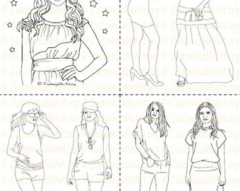 fashion coloring book printable fashion book girl women coloring pages sheets fashionable high fashion woman model - Fashion Coloring Pages