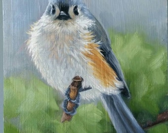Tufted Titmouse - Titmouse - bird painting - Open edition print