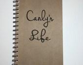 Custom Journal, Custom Notebook, Name, Personalized Journal, Personalized Notebook, Notebook, Notes, Journal, gift, Sketchbook, Diary