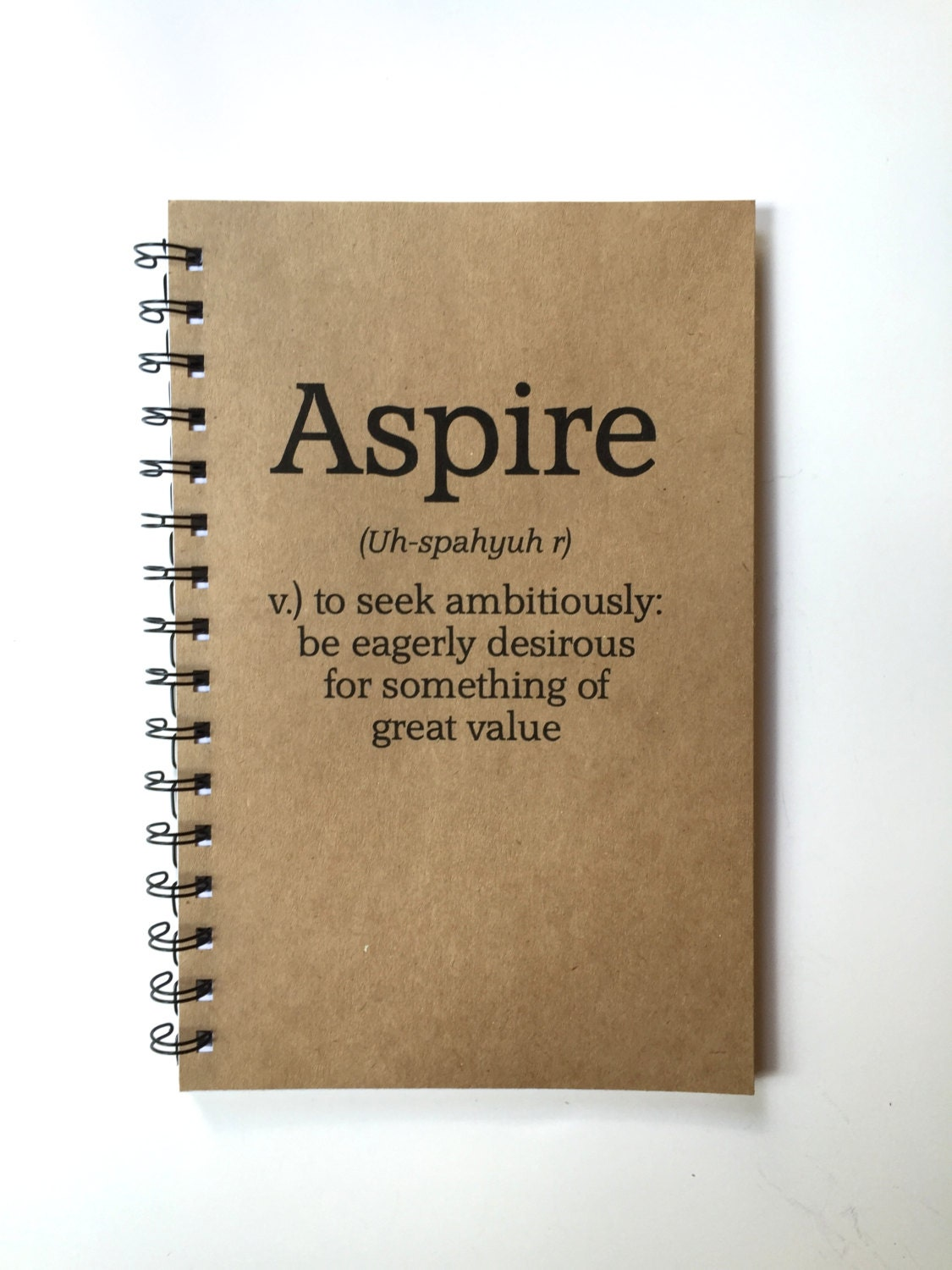 Aspire Notebook Journal Definition Definition Gift Aspire