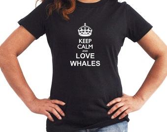 Keep calm and love Whale Women T-Shirt