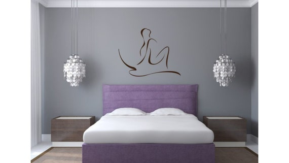Sexy Woman Silhouette Headboard Decor Wall By