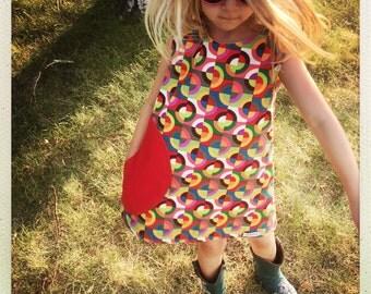 mod girls dress easter dress girls a line dress toddler dress shift dress towno 1960s dress sleeveless dress mid-century dress retro dress