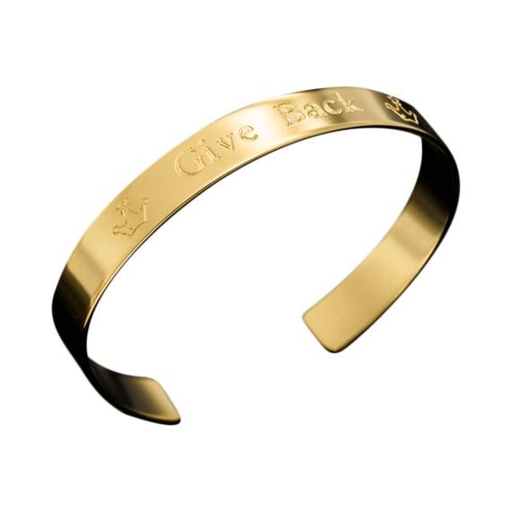 Give back inspirational bracelet cuff bracelet message jewelry