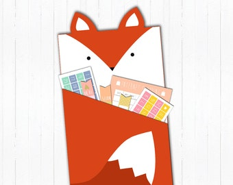 Printable Fox Pouches for Planner
