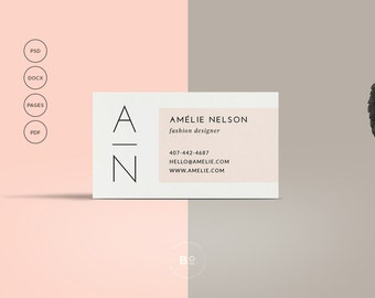 Printable Business Card | Premade Business Card Template  | Modern Business Card | Feminine Card | Calling Card Instant Download