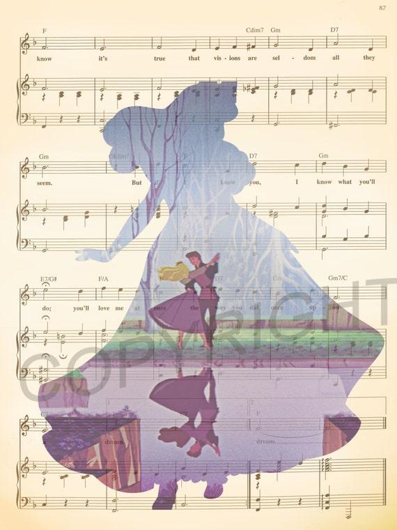 Sleeping Beauty and Prince Phillip Dancing Art Print