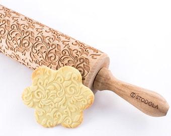 Folk-dekorativ - Prägung Nudelholz für cookies