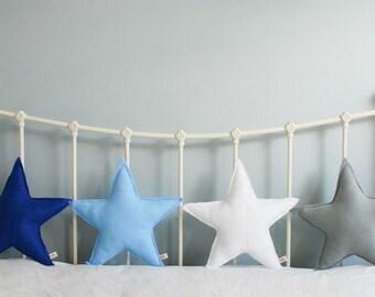 Star cushion - felt star cushion - felt cushion - star - cushion - decorative cushion - nursery - baby - handmade - MADE TO ORDER