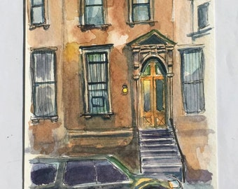 Harlem, NYC- Original Watercolor Painting