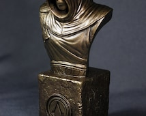 Custom Sculpted ALTAIR ASSASSIN'S CREED Faux Bronze Bust | 6.30 inches | 16.0 cm