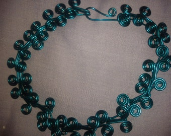 TURQUOISE  SPIRAL WIRE bracelet