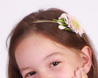 flower hair accessories, flower headband with chrysanthemum, women girl accessories, flowergirl accessory, artificial flowers