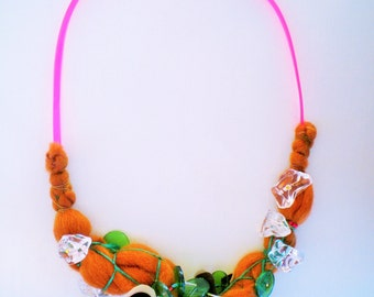 unconventional  jewelry, fiber jewelry, wearable art jewelry, braided necklace, artisan jewelry unique gifts for her, modern necklace