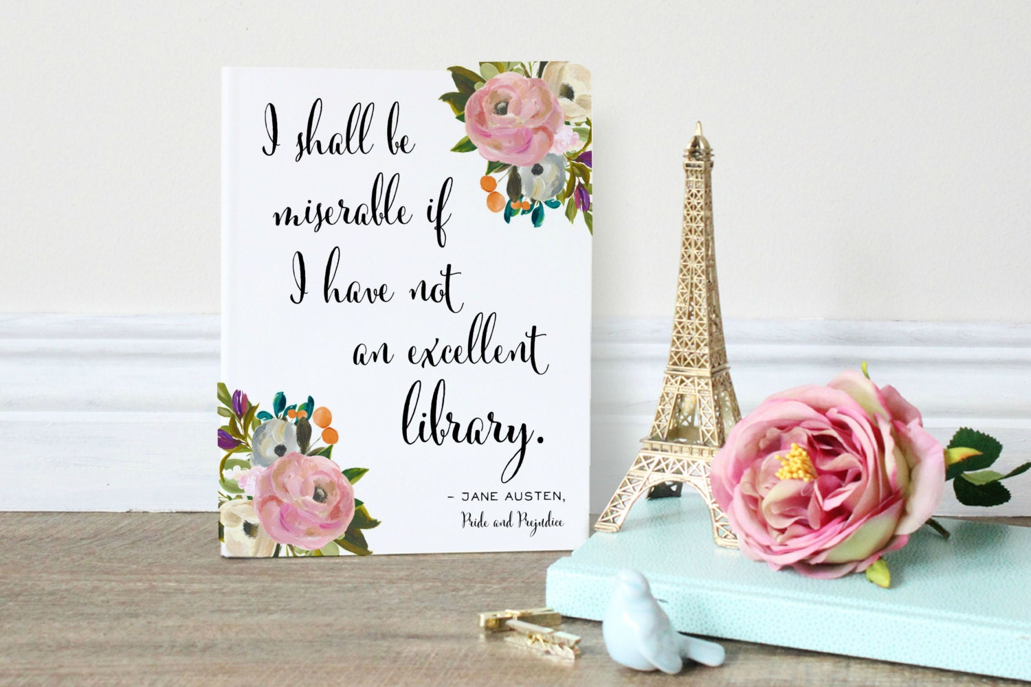 Jane Austen Quote Pride And Prejudice Wall Art Print For