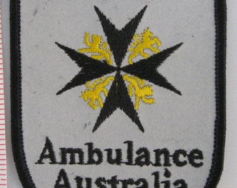 St. John Ambulance Australia Sew On Patch - EMS Sew-On Patch - Paramedic Patch - Embroidered Applique Patch