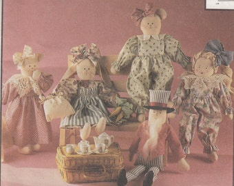 McCalls Crafts 5513 Doll & Animals Sewing Pattern - Home Decor Sewing Pattern - Uncle Sam Doll Uncut Sewing Pattern - Craft Sewing Pattern