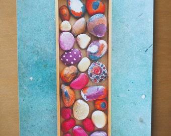 Painted Rocks Photograph Print