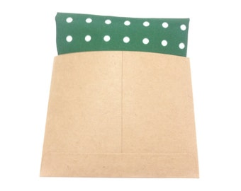 Organic Cotton Pocket Square/Handkerchief in Green Polka Dot