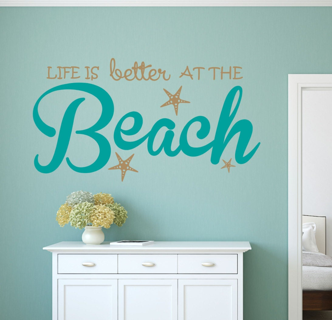 Life is better beach wall decal sticker for Beach wall decals