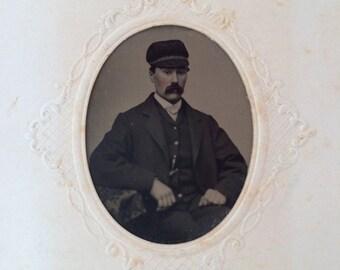 Vintage portrait  tintype of Sensobi Yaeger