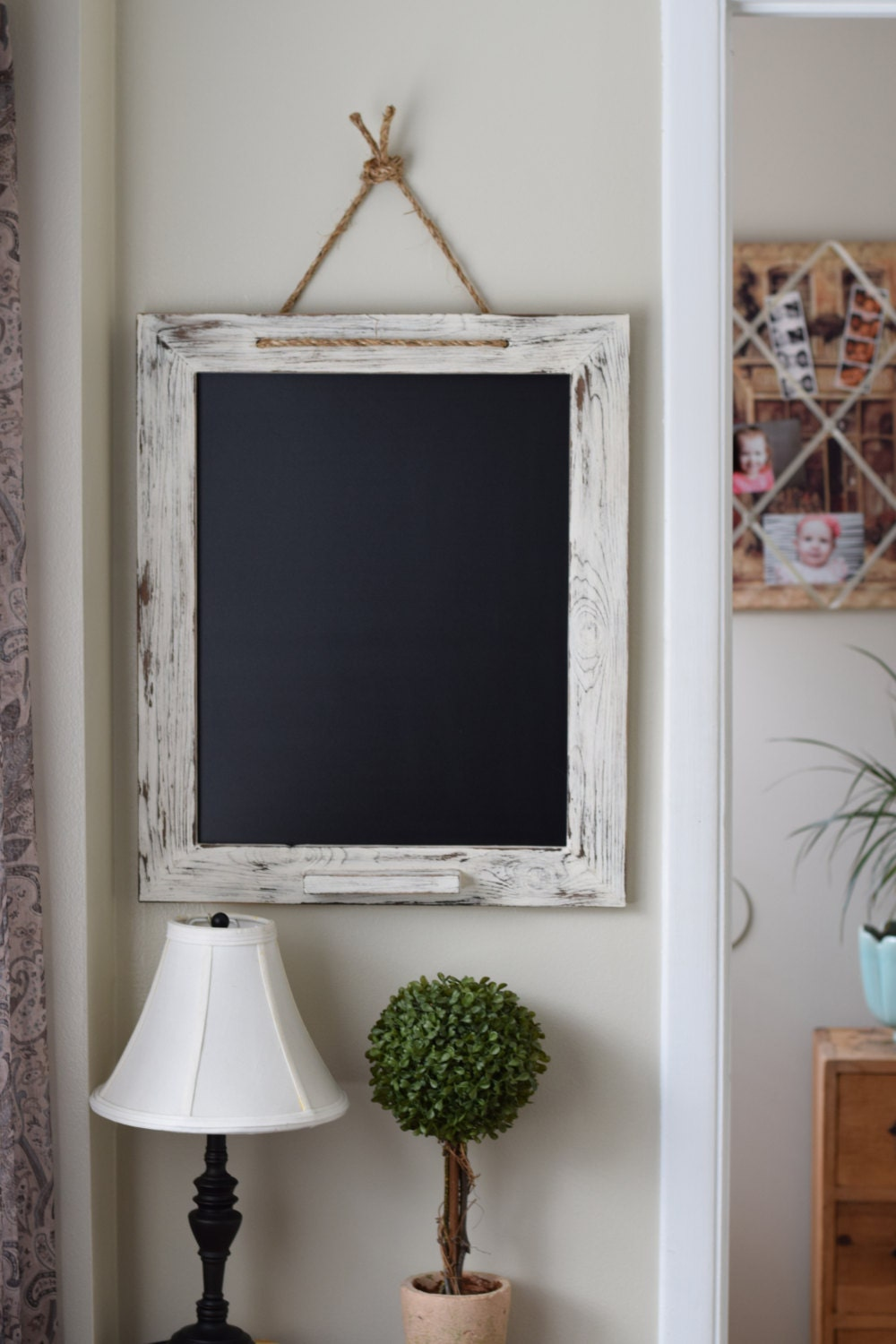 White shabby chic chalk marker board 20x24 kitchen by for Best home decor pinterest boards
