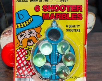 6 Shooter Marbles from Imperial Toys, Original Packaging