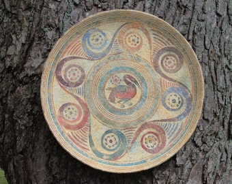Vintage Reproduction Decorative Wall Plate By  P. Vaglis Minoan Period 1200 B. C.