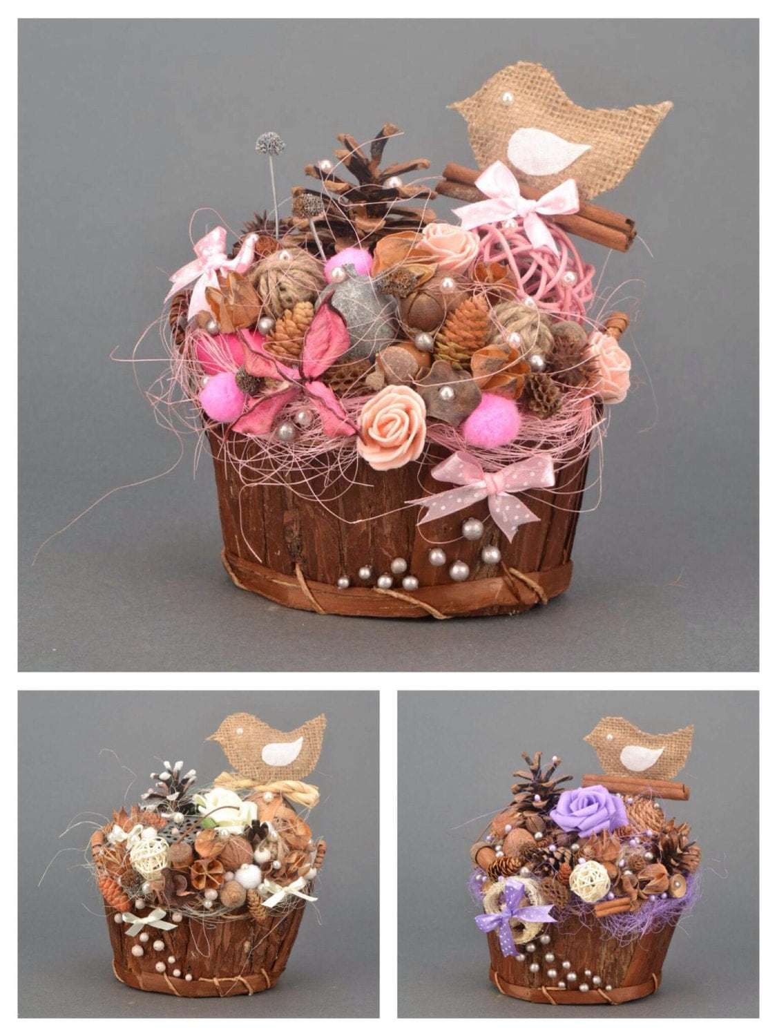gift for women rustic room decor gift basket by kseniyarevta
