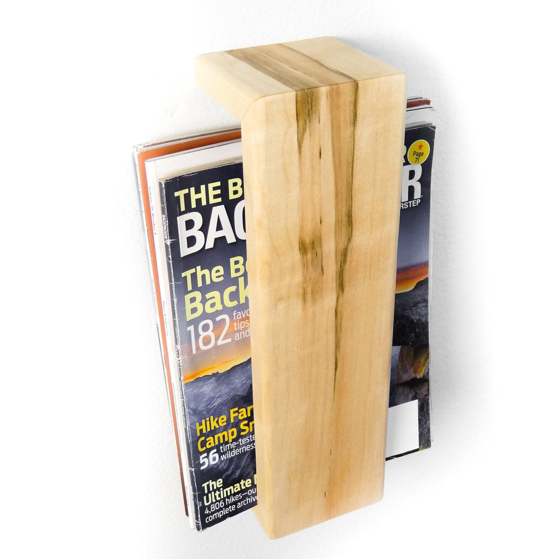 Magazine Shelf: Magazine Rack Wall Mounted Floating Shelf By
