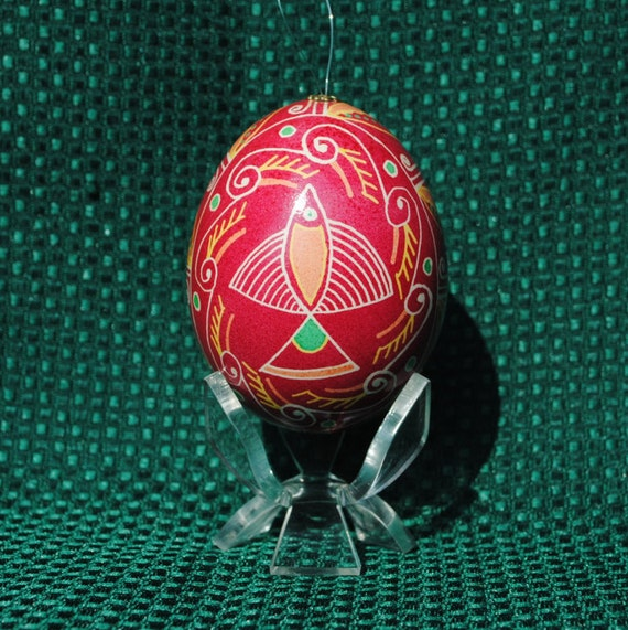 Light Stand For Egg: Display Stand Included. Ukrainian Egg Traditional Pysanky