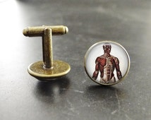 Personal Trainer Cufflinks Gift Body Muscle Anatomy Cuff Links Body Anatomy Fitness Trainer Cufflinks Body Fitness cuff links suit accessory