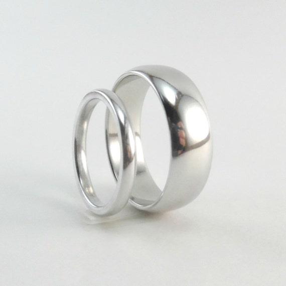 Alternative 10th Wedding Anniversary Gifts : Wedding Ring Set, 10th Anniversary Gift, His and Hers Rings, Wedding ...