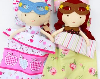 DOLLS BEDDING, doll bedding set, doll duvet, pillow doll, 18inch doll bed set, doll comforter, AG doll bedding, sensory toy, superhero doll