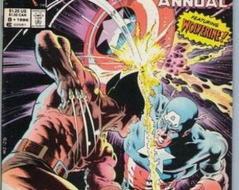 Captain America Annual 8 1986 VF (8.0)