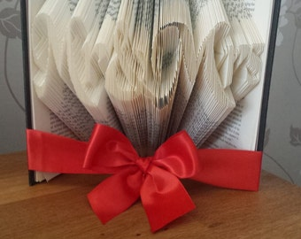 Mr & Mrs Book Fold, Folded Book, Wedding Gift, Wedding Bookfold, First Anniversary, Paper Anniversary Gift, Wedding Folded Book