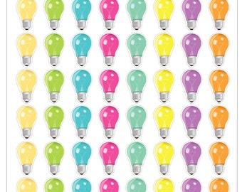 Bright Ideas Lightbulb Stickers for your Planner, Scrapbook, Calendar, etc.