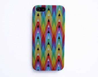 Pastel Triangle Geometric Pattern iPhone 6S case Pastel Geometric iPhone 6 case Geometric iPhone 5 case Colorful Triangle iPhone SE case