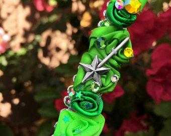 Green Pixie Princess Flower Crown / Wreath / Headband