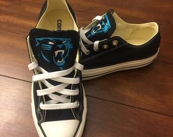 Carolina Panthers Chuck Taylors - Embroidered - NFL Teams