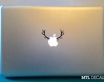 Antlers Macbook Decal / Deer Macbook Pro Sticker