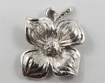 Flower Sterling Silver Vintage Charm For Bracelet