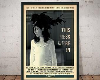 PJ Harvey - Quote Retro Poster - Music Legends Series
