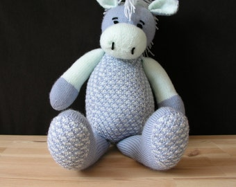 Handmade knitted horse toy, teddy, baby, gift, stuffed animal, ready to ship